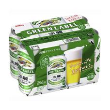 淡麗 グリーンラベル 350ml×6缶パック 697円(税抜)