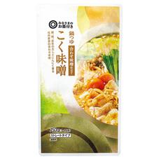 みなさまのお墨付き 鍋つゆ合わせ味噌仕立てこく味噌 195円(税抜)