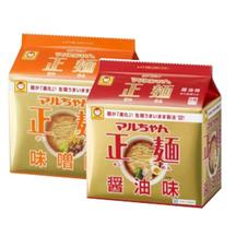 マルちゃん正麺 各種 287円(税抜)