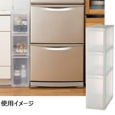 すき間ストッカー 3段 ミドル 3,480円(税抜)