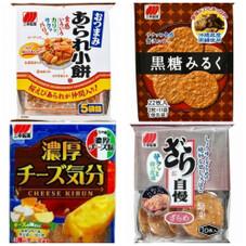 黒糖みるく・チーズ気分・ざら自慢・あられ小餅 108円