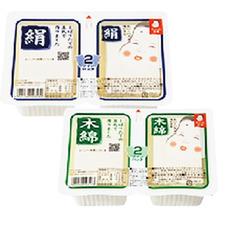 おかめ豆腐 ツインパック・木綿 絹 68円(税抜)