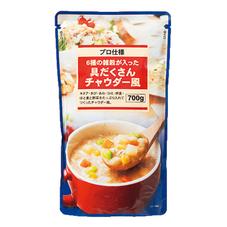6種の雑穀が入った具だくさんチャウダー風 378円(税抜)