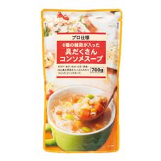 6種の雑穀が入った具だくさんコンソメスープ 378円(税抜)