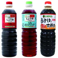 しょうゆ(うすくち・本醸造こいくち)・あまくち本醸造 168円(税抜)
