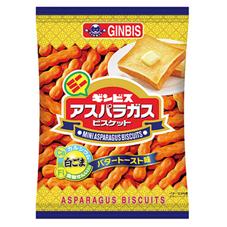 ギンビス ミニアスパラガスこんがりバタートースト味 78円(税抜)