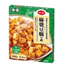 麻婆豆腐の素 中辛 118円(税抜)