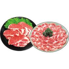 豚肩ローステキとんかつ、しゃぶしゃぶ各種 198円(税抜)
