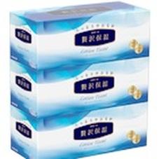 贅沢保湿ローションティシュー3箱パック 457円(税抜)
