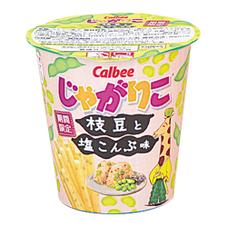 じゃがりこ枝豆と塩こんぶ味 ローソン限定 158円