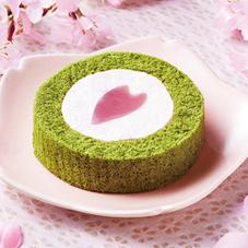 桜と抹茶のロールケーキ 210円