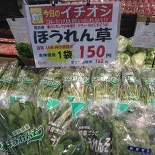 ほうれん草 150円(税抜)