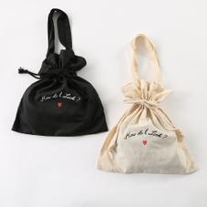 ロゴ巾着型トートBAG 300円(税抜)