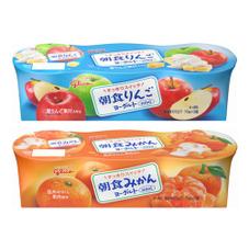 朝食りんご・みかんヨーグルト 147円(税抜)