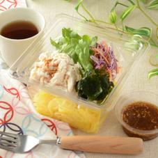 鶏ささみとわかめのこんにゃく麺サラダ 330円