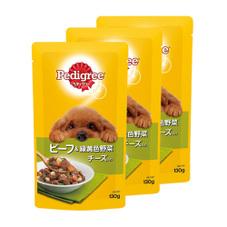 ぺディグリーパウチ 3個組 167円(税抜)