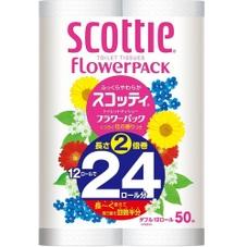 スコッティフラワー2倍巻トイレットペーパー 598円(税抜)