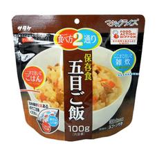 マジックライス 保存食 五目ご飯 348円(税抜)