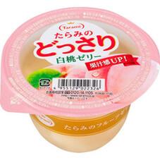 たらみのどっさり 白桃ゼリー 2個で 178円(税抜)