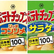 ポテトチップス サラダ63g リッチコンソメ66g 64円
