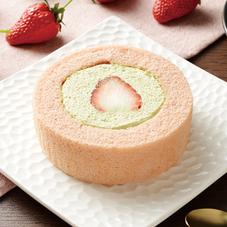 苺とピスタチオクリームのロールケーキ 240円
