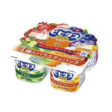 ビヒダスヨーグルト アロエ・バラエティー・ナタデココ・ピーチミックス+オレンジ 98円(税抜)
