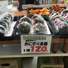 おにぎり各種 120円(税抜)