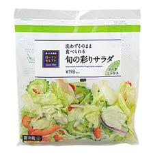 旬の彩りサラダ ゴーヤミックス 198円