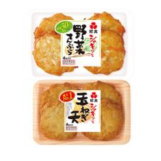 シャキッと玉ねぎ天・野菜てんぷら 177円(税抜)