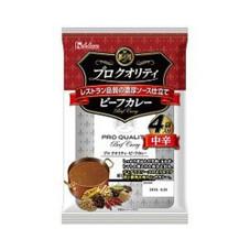 プロクオリティ ビーフカレー4袋入り中辛 348円(税抜)
