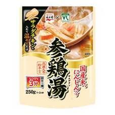 サラダチキンで作る参鶏湯 108円