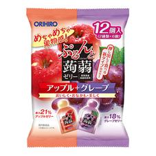 オリヒロ ぷるんと蒟蒻ゼリー アップル+グレープ 178円(税抜)