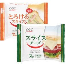 スライスチーズ、とろけるスライスチーズ 128円(税抜)