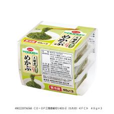 三陸産細切りめかぶ(たれ付) 168円(税抜)
