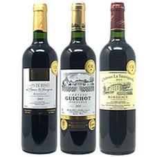 ボルドー 金賞受賞 赤ワイン 3本セット 3,990円(税抜)