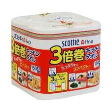 スコッティ3倍巻キッチンタオル 378円(税抜)