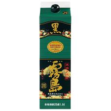 黒霧島 25度 パック 1,488円(税抜)