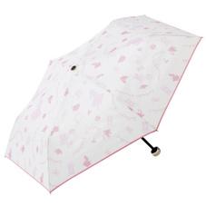 晴雨兼用折傘50cm アリス ピンク/アイボリー 980円
