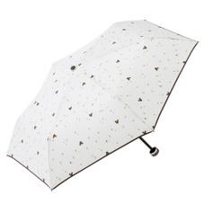晴雨兼用折傘50cmミッキー ブラウン/アイボリー 980円