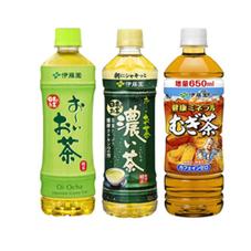 おーいお茶(緑茶・濃い味)・麦茶 65円(税抜)