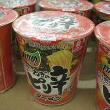 ねぎのピリ辛スープ味ラーメン 108円(税抜)
