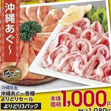 沖縄あぐ~各種よりどりセール 1,000円(税抜)
