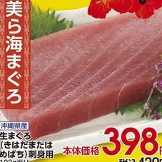 生まぐろ(きはだまたはめばち)刺身用 398円(税抜)