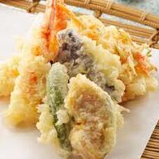 夏野菜天ぷら盛り合せ 398円(税抜)