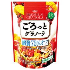 日清シスコ ごろっとグラノーラ 脂質75%オフメープル仕立ての贅沢果実 498円(税抜)
