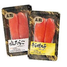 塩たらこ 辛子明太子・切子込 398円(税抜)