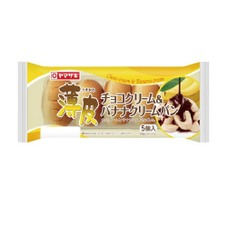 薄皮チョコクリーム&バナナクリームパン 108円