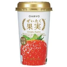 ぜいたく果実いちごのむヨーグルト 97円(税抜)