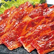 牛バラ厚切りカルビー焼肉用(味付) 198円(税抜)