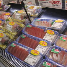 お刺身単品盛りよりどりセール 777円(税抜)